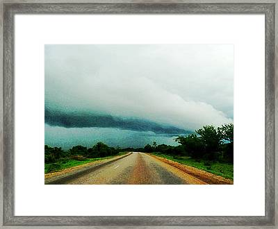 Storm On The Horizon Framed Print by Zinvolle Art