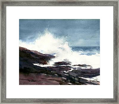 Storm On The Lake Framed Print