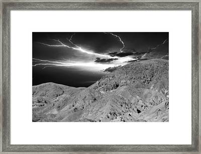 Storm On The Mountain Framed Print by Athala Carole Bruckner