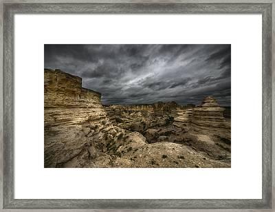 Storm On The Plains  Framed Print