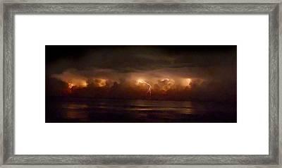 Storm On The Surf. Melbourne Shores. Framed Print by Chris  Kusik
