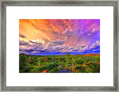Storm On The Telegraph Framed Print
