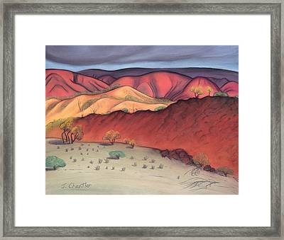 Storm Outback Australia Framed Print by Judith Chantler