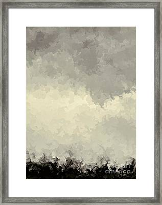Storm Over A Cornfield Framed Print