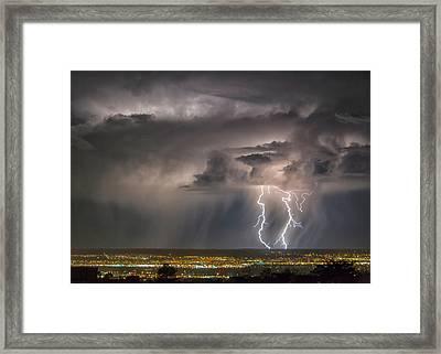 Storm Over Albuquerque Framed Print