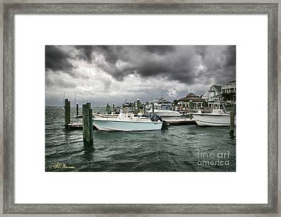 Framed Print featuring the photograph Storm Over Banks Channel by Phil Mancuso