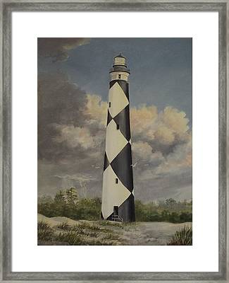 Storm Over Cape Fear Framed Print by Wanda Dansereau