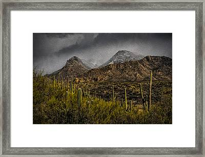 Storm Over Catalinas Aso Framed Print