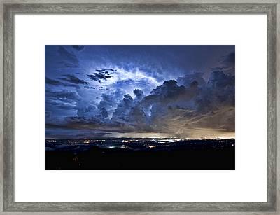 Storm Over Chattanooga Framed Print