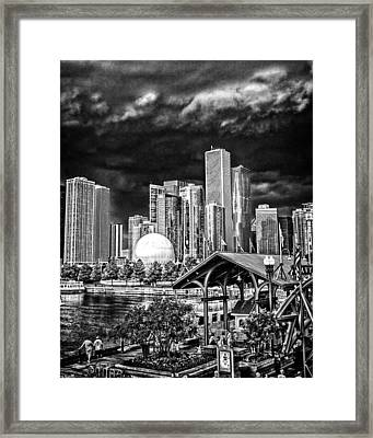 Storm Over Chi Town Framed Print