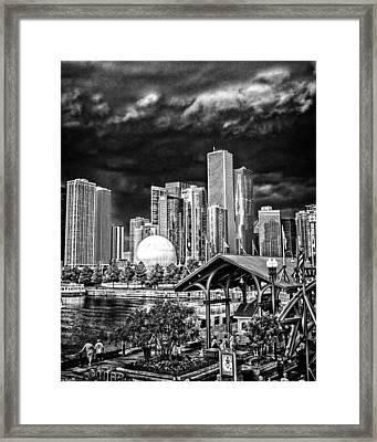 Storm Over Chi Town Framed Print by Robert  FERD Frank