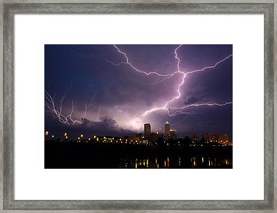 Storm Over City Framed Print by Alexey Stiop