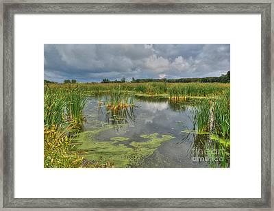 Storm Over Crabtree Framed Print by Deborah Smolinske