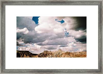 Storm Over Western  Desert Quarry Framed Print