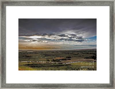 Storm Over Emmett Valley Framed Print by Robert Bales