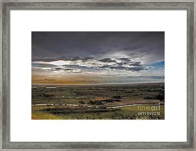 Storm Over Emmett Valley Framed Print