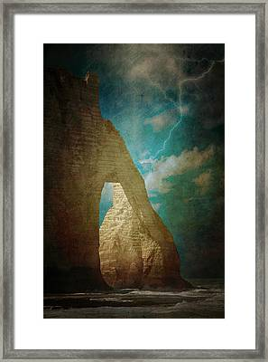 Storm Over Etretat Framed Print by Loriental Photography
