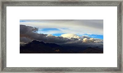 Storm Over Five Fingers Framed Print by Richard Fisher
