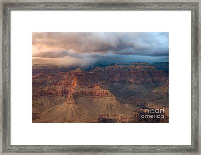 Storm Over Grand Canyon Framed Print by Clarence Holmes