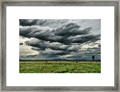 Storm Over Jackson Hole Valley Framed Print by Jeff R Clow