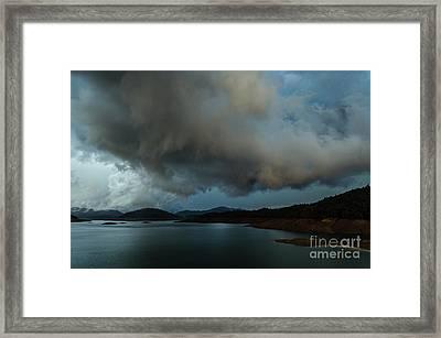 Storm Over Lake Shasta Framed Print
