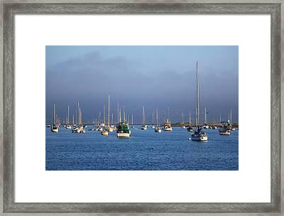 Storm Over Morro Bay Framed Print by Veronica Vandenburg