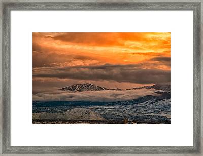 Storm Over Mt Rose Framed Print by Janis Knight