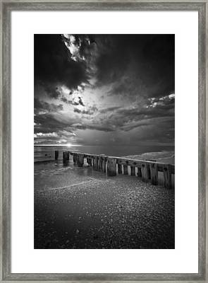 Storm Over Naples Florida Beach Framed Print