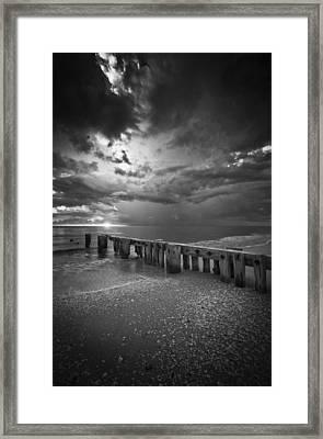 Storm Over Naples Florida Beach Framed Print by Bradley R Youngberg