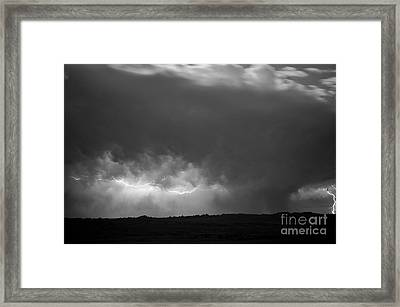 Storm Over Pine Ridge Framed Print by Chris Brewington Photography LLC