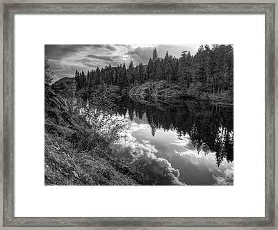 Storm Over Red Lake Framed Print