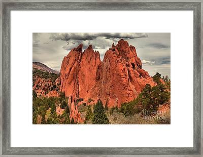 Storm Over Red Rocks Framed Print