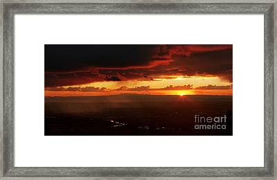 Storm Over Rio Grande Framed Print by Matt Tilghman