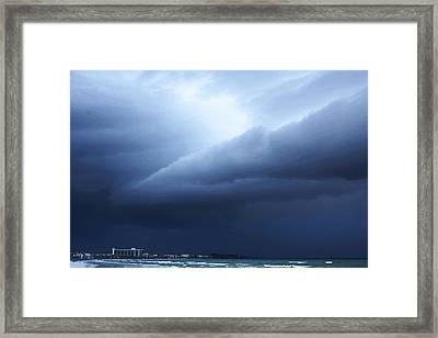 Storm Over Siesta Key - Beach Art By Sharon Cummings Framed Print