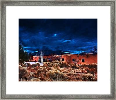 Storm Over Taos Lx - Homage Okeeffe Framed Print
