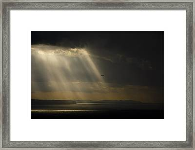 Storm Over The Bay Framed Print by Emilio Lopez