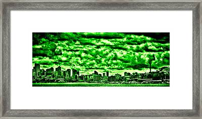Storm Over The Emerald City Framed Print by David Patterson