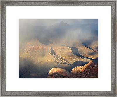 Storm Over The Grand Canyon Framed Print