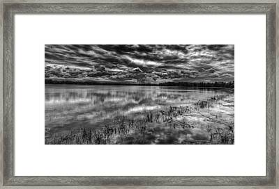 Storm Over The Mill Pond  Framed Print by Thomas Young