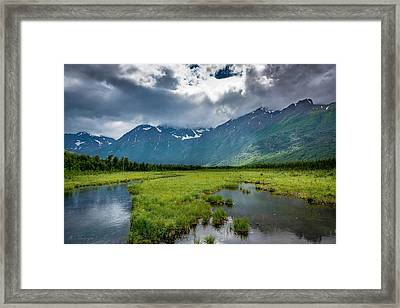 Storm Over The Mountains Framed Print