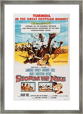 Storm Over The Nile, Us Poster Art, 1955 Framed Print