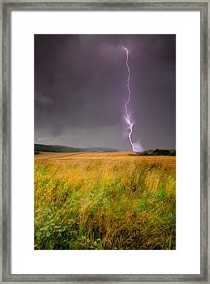 Storm Over The Wheat Fields Framed Print by Eti Reid