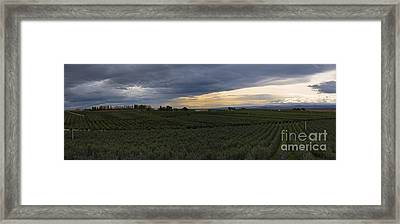 Storm Over The Yakima Valley Framed Print