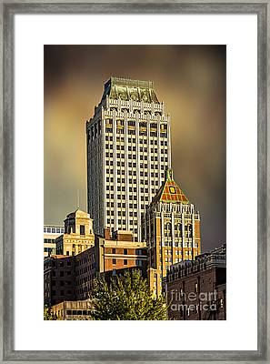 Storm Over Tulsa Framed Print by Tamyra Ayles