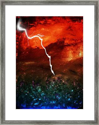 Storm Over Umbria Framed Print