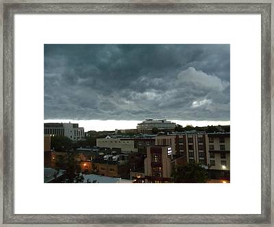 Storm Over West Chester Framed Print by Ed Sweeney
