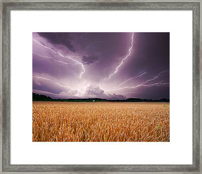 Storm Over Wheat Framed Print