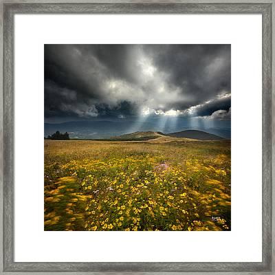 Storm Over Whitetop Mountain 2 Framed Print