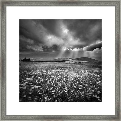 Storm Over Whitetop Mountain Framed Print
