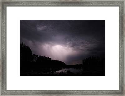 Framed Print featuring the photograph Storm Over Wroxton by Ryan Crouse